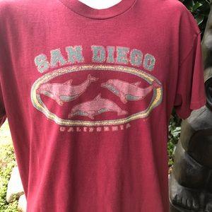 Vintage Shirt Large Single Stitch  Dolphin Cali
